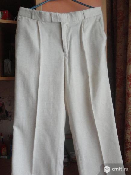 Льняные классические брюки. Фото 1.