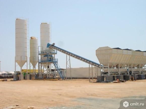Стационарный бетонный завод Sumab T-120. Фото 1.