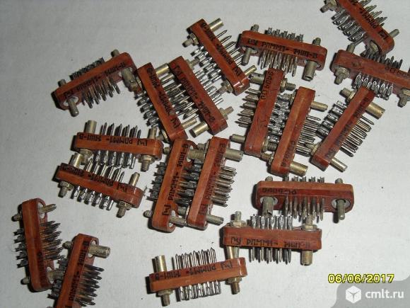 Разьемы Рпмм1-14ш-1в. Фото 1.