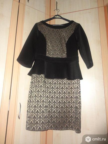 Нарядное платье с баской