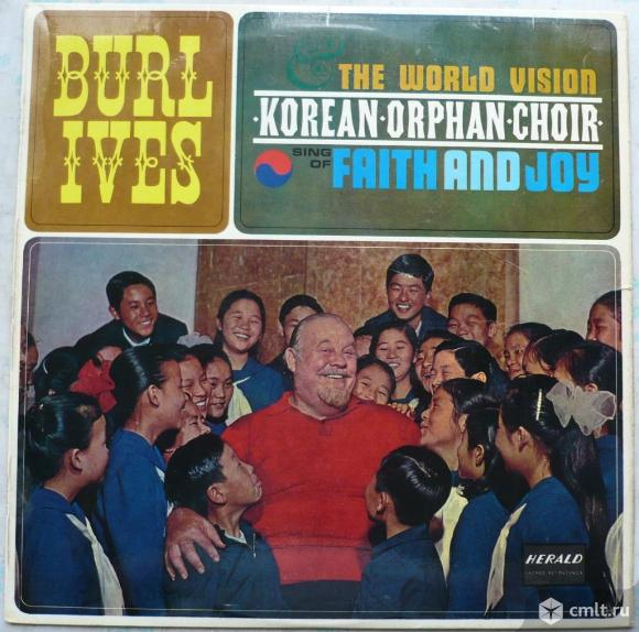 "Грампластинка (винил). Гигант [12"" LP]. Burl Ives and The World Vision Korean Orphan Choir. (P) 1963. Фото 1."