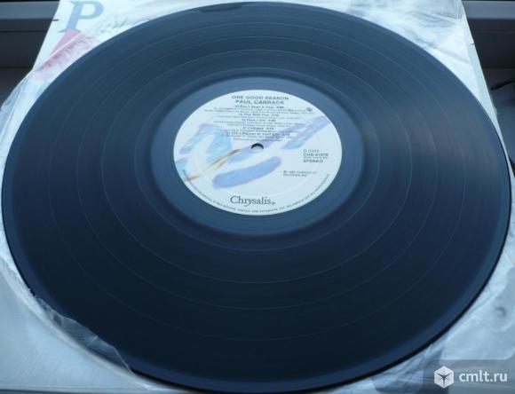 "Грампластинка (винил). Гигант [12"" LP]. Paul Carrack. One Good Reason. 1987 Chrysalis. Канада.. Фото 8."