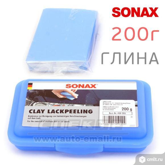 Глина для очистки кузова sonax (200г) синяя