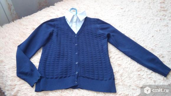 Кофточка с имитацией блузки (школьная)