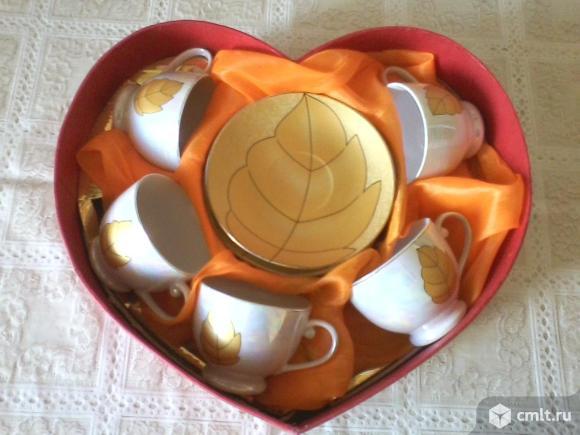 Набор из пяти фарфоровых, чайно-кофейных, чашек