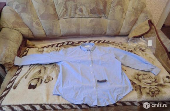 Рубашка новая в упаковке (цвет светло синий)