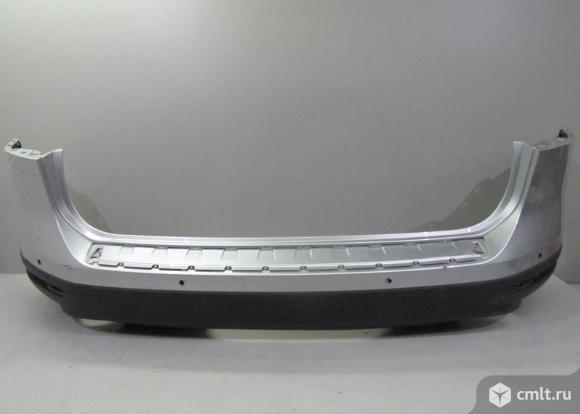 Бампер задний + спойлер VW TOUAREG 15- б/у 7P6807421FGRU 7P6807434E9B9 3*. Фото 1.