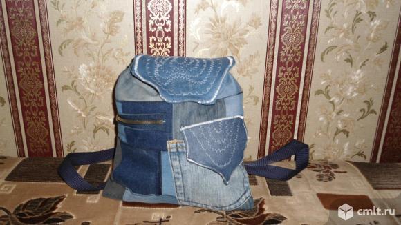 Рюкзаки молодежные джинсовые ручной работы