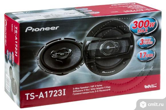 Новые Колонки автомобильные PIONEER TS-A1723I, коаксиальные, 300Вт , 16 см