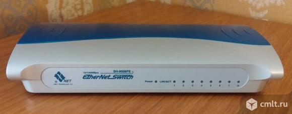 Коммутатор хаб свич switch Ethernet Network SH-9008PE 8 портов. Фото 1.