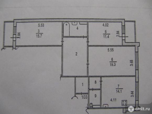 3-комнатная квартира 85,3 кв.м