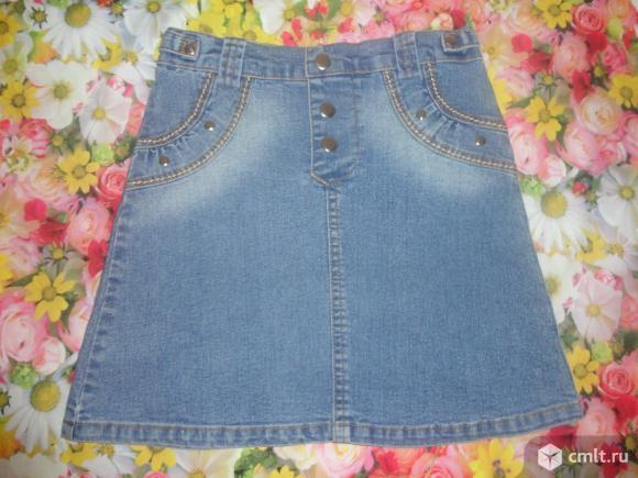 Стильная джинсовая юбочка. Фото 1.