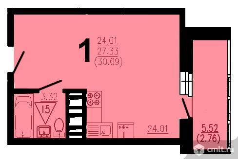 Квартира-студия 30 кв.м