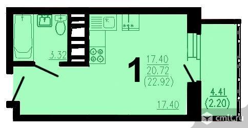 Квартира-студия 23 кв.м