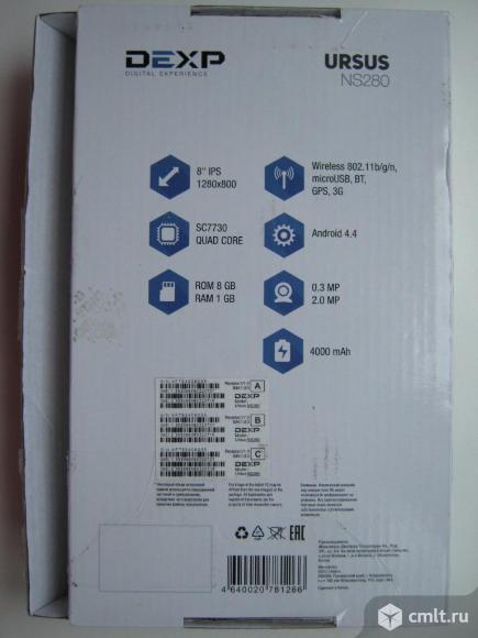 """8"""" Планшет DEXP Ursus NS280 8 Гб 3G"""