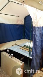 Палатка торговая, стол раскладной, зонт. Фото 1.