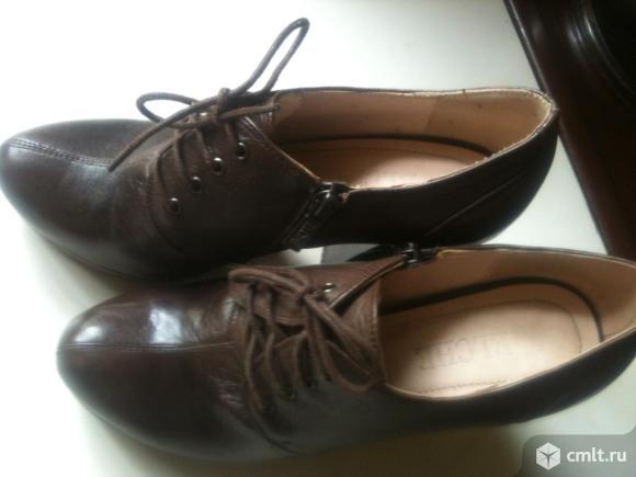 Туфли практически новые из натуральной кожи. Фото 2.