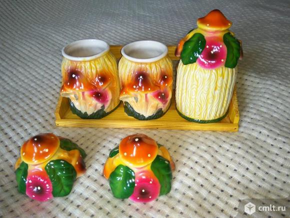 Набор керамических баночек для сыпучих продуктов