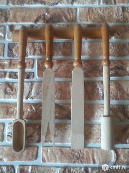 Деревянный набор для кухни советских времен. Фото 1.