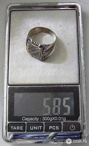 Серебряная мужская печатка. Фото 2.