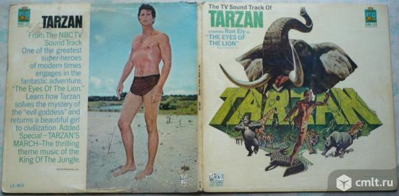 "Грампластинка (винил). Гигант [12"" LP]. The TV Sound Track Of Tarzan Starring Ron Ely. (C) 1966. США. Фото 1."
