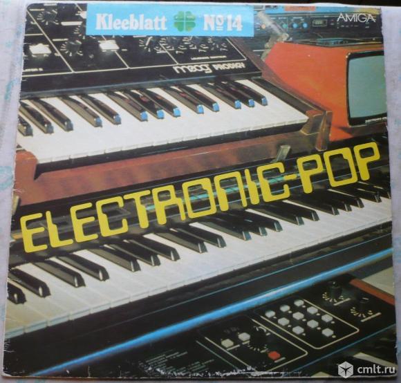 """Грампластинка (винил). Гигант [12"""" LP]. Kleeblatt No 14 - Electronic-Pop. 1985. Amiga. ГДР.. Фото 1."""