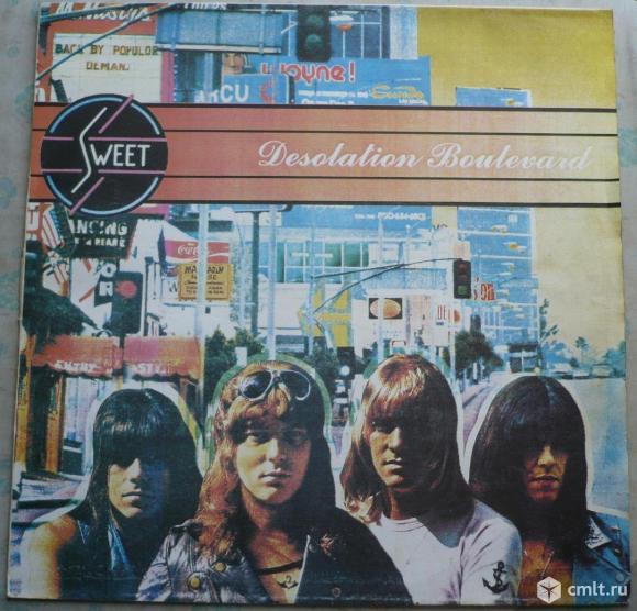 "Грампластинка (винил). Гигант [12"" LP]. Sweet. Desolation Boulevard. 1974. Santa Records, 1994.. Фото 1."