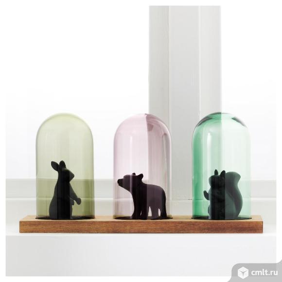 ИКЕА ГЭРЛИГА, 703.308.51Стеклянный клош на подставке, разноцветный, 14 см