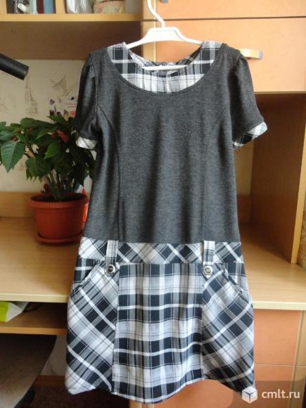 Школьное платье-сарафан. Фото 1.
