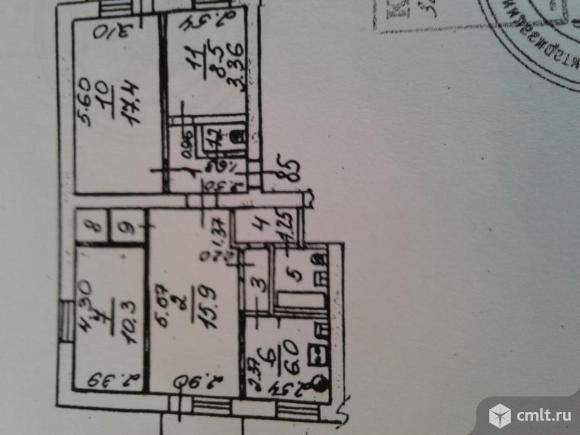 4-комнатная квартира 72,6 кв.м