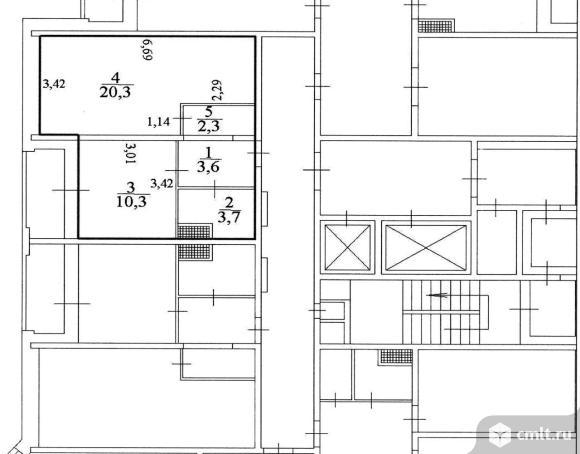1-комнатная квартира 40,2 кв.м