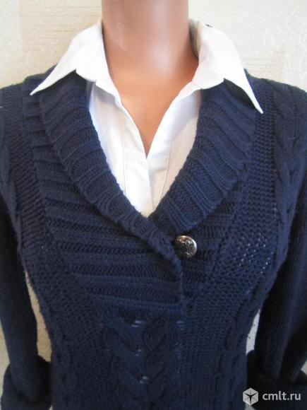 Пуловер темно -синий.. Фото 3.