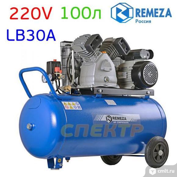 Компрессор REMEZA СБ4/С-100.LB30A (220В) 420л/мин. Фото 1.