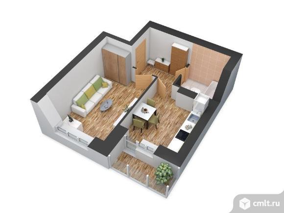 1-комнатная квартира 38,9 кв.м