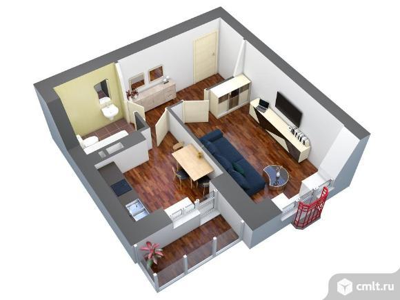 1-комнатная квартира 37,2 кв.м