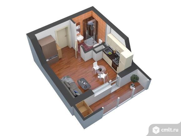 1-комнатная квартира 24,1 кв.м