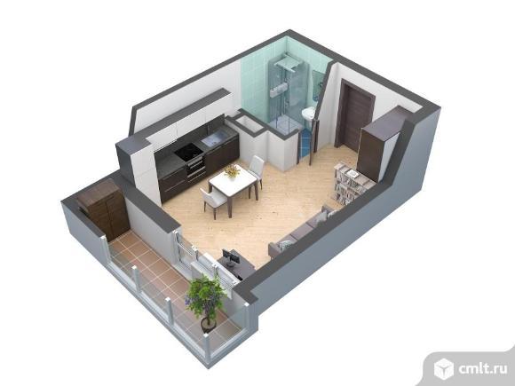 1-комнатная квартира 27,5 кв.м