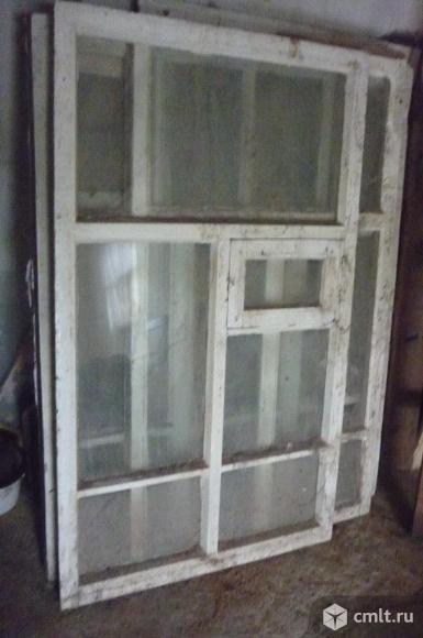 Окна деревянные, б/у, 125х100 см, 2 шт., 96х87 см, 2 шт