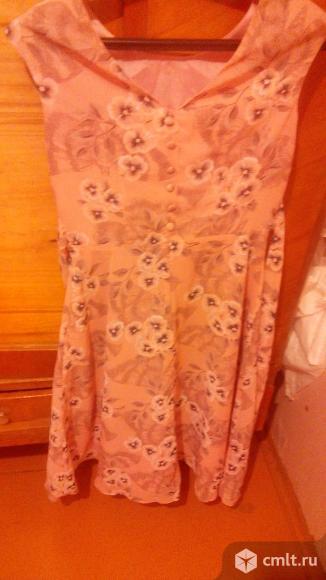 Платье р 44 летнее, шифон, без дефектов