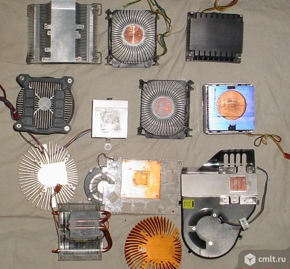 Охлаждение для видеокарты и процессора, 9 шт