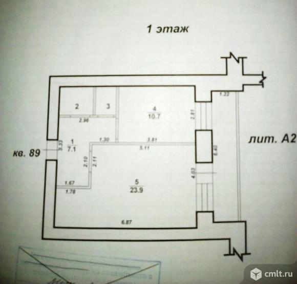 1-комнатная квартира 46 кв.м