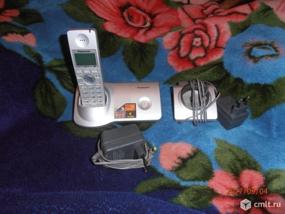 Продам цифровой беспроводной телефон Panasonic KX-7105, б\ у в хорошем состоянии.. Фото 1.