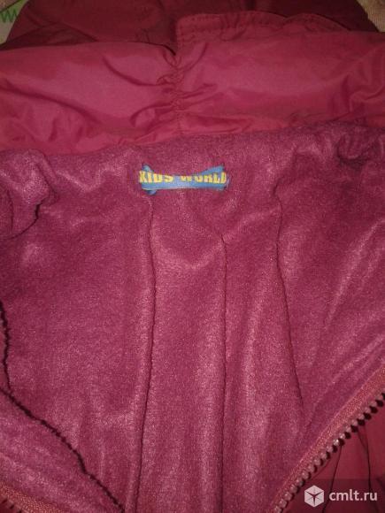 Куртка осенняя с капюшоном р.98-104. Фото 2.