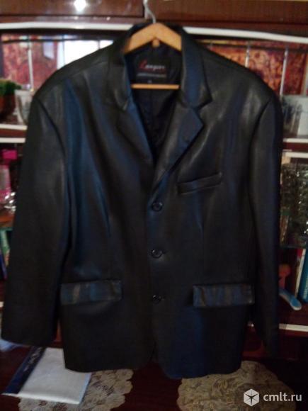 Кожаный пиджак. Фото 1.