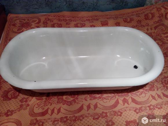 Ванна детская стальная эмалированная белая. Размер 85*35*25 см. 60 литров.