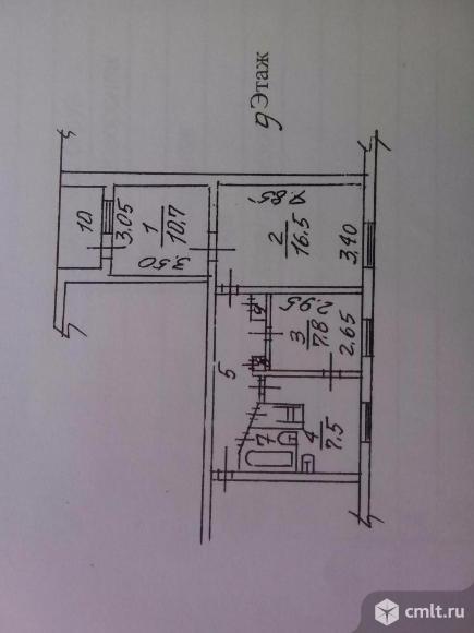 2-комнатная квартира(со столовой) 54 кв.м