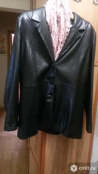 Пиджак кожаная