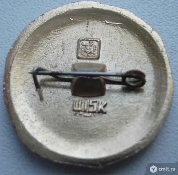 """Значок """"Золотое кольцо - Рыбинск"""", герб, СССР, металл, эмаль.. Фото 2."""