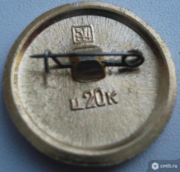 """Значок """"Золотое кольцо - Тутаев"""", герб, СССР, металл, эмаль.. Фото 2."""