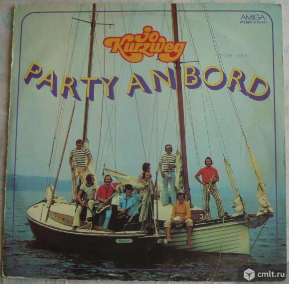 "Грампластинка (винил). Гигант [12"" LP]. Jo Kurzweg (Joachim Kurzweg). Party An Bord. 1976. Amiga.. Фото 1."